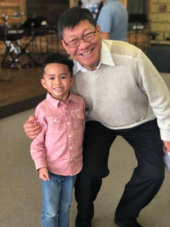 A photo of Pastor Gil and Isaiah