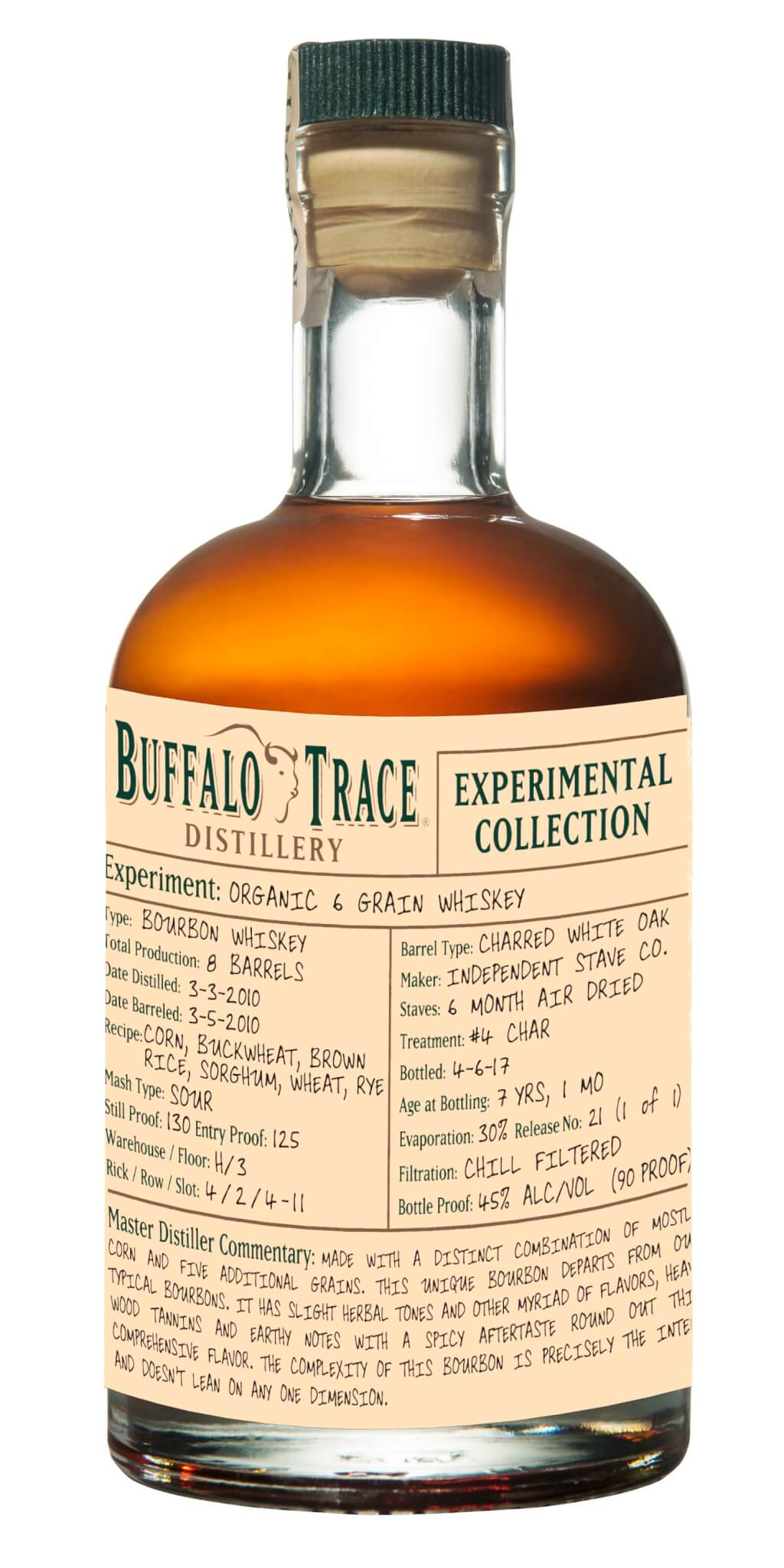 Buffalo Trace Releases 6 Grain Certified Organic Whiskey