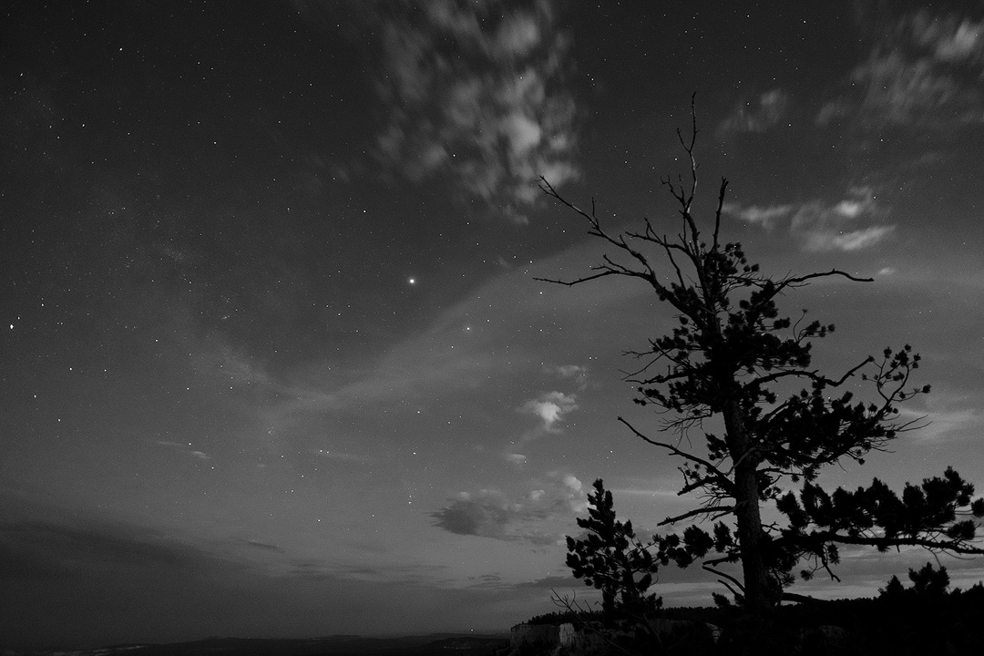 night time sky with