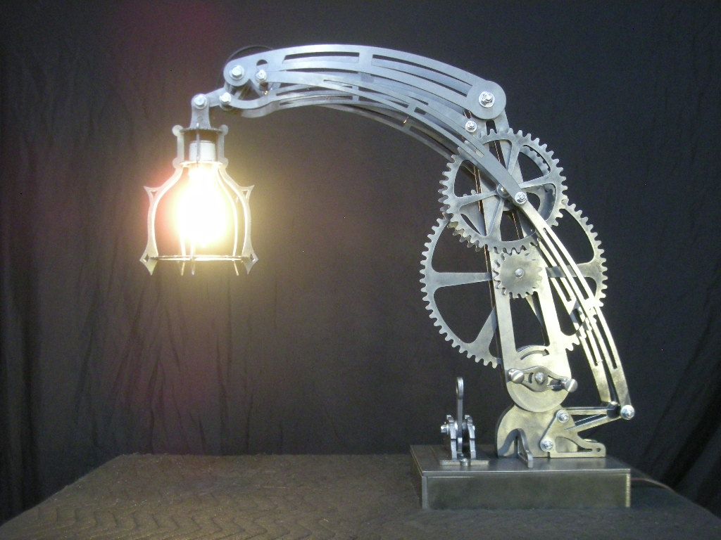 Steel Steam Punk Lamp