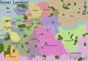 Inner London Districts Map