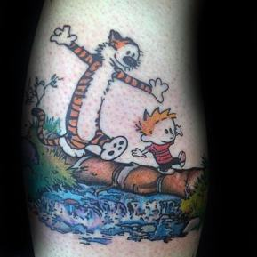 arm-mens-calvin-and-hobbes-tattoo-inspiration