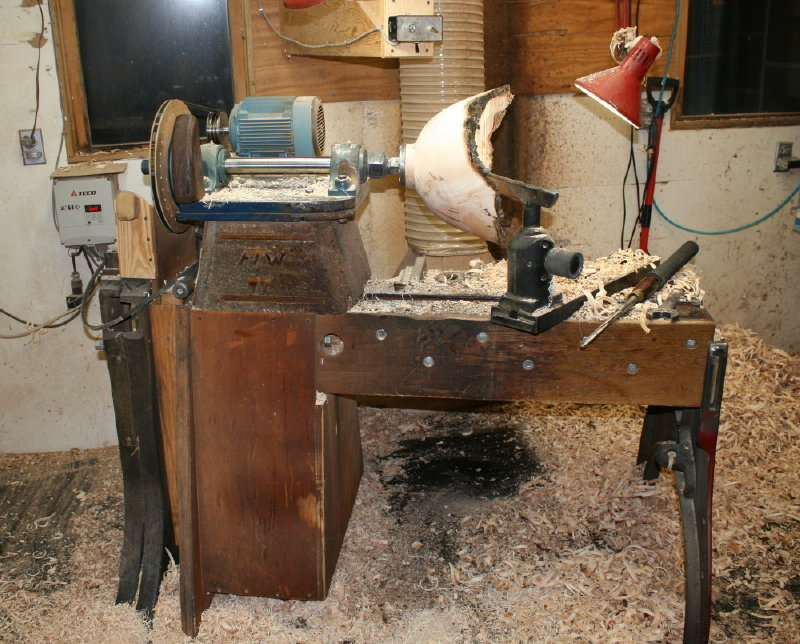 home made wood lathe
