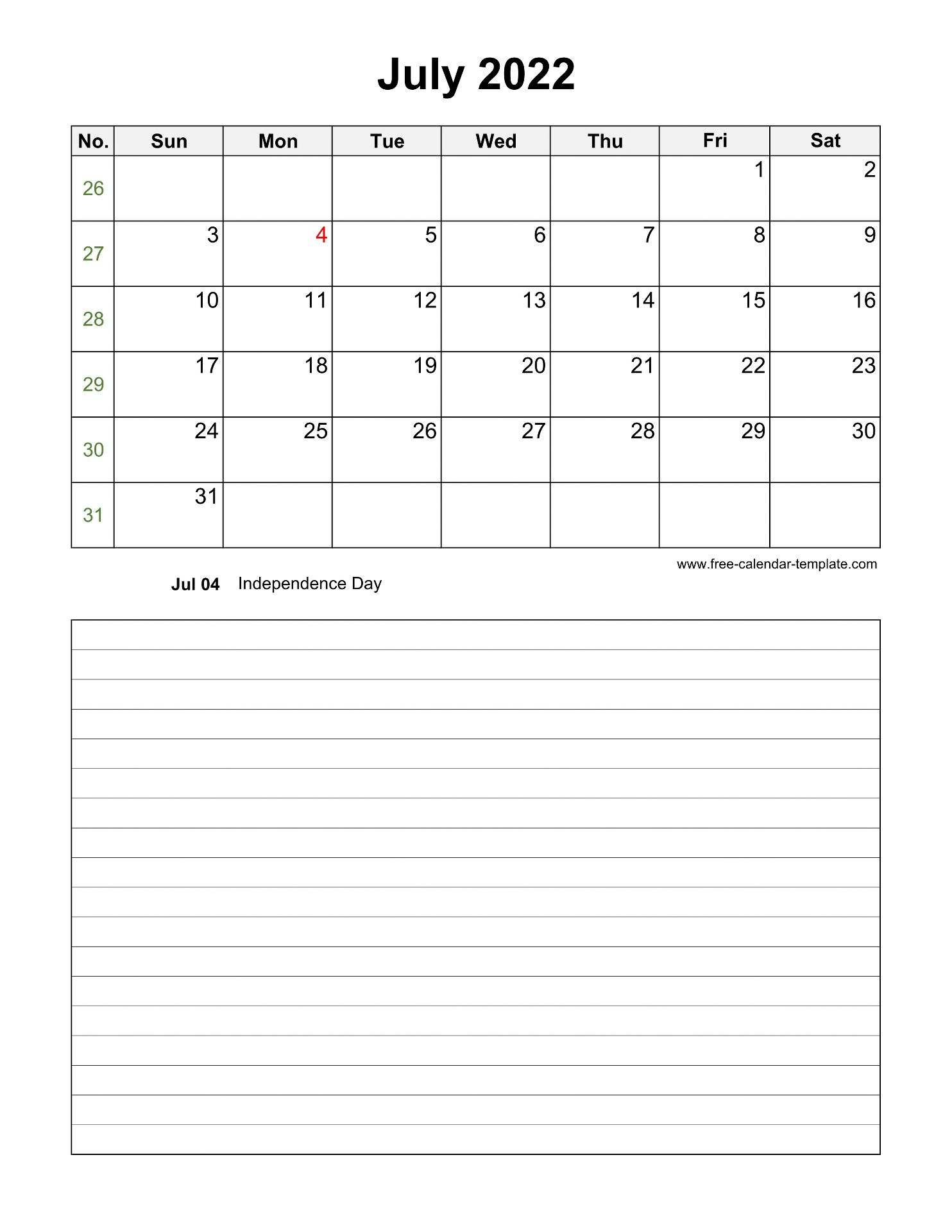 Sure, digital calendars are convenient — we can take them everyw. Printable July 2022 Calendar with space for appointments ...