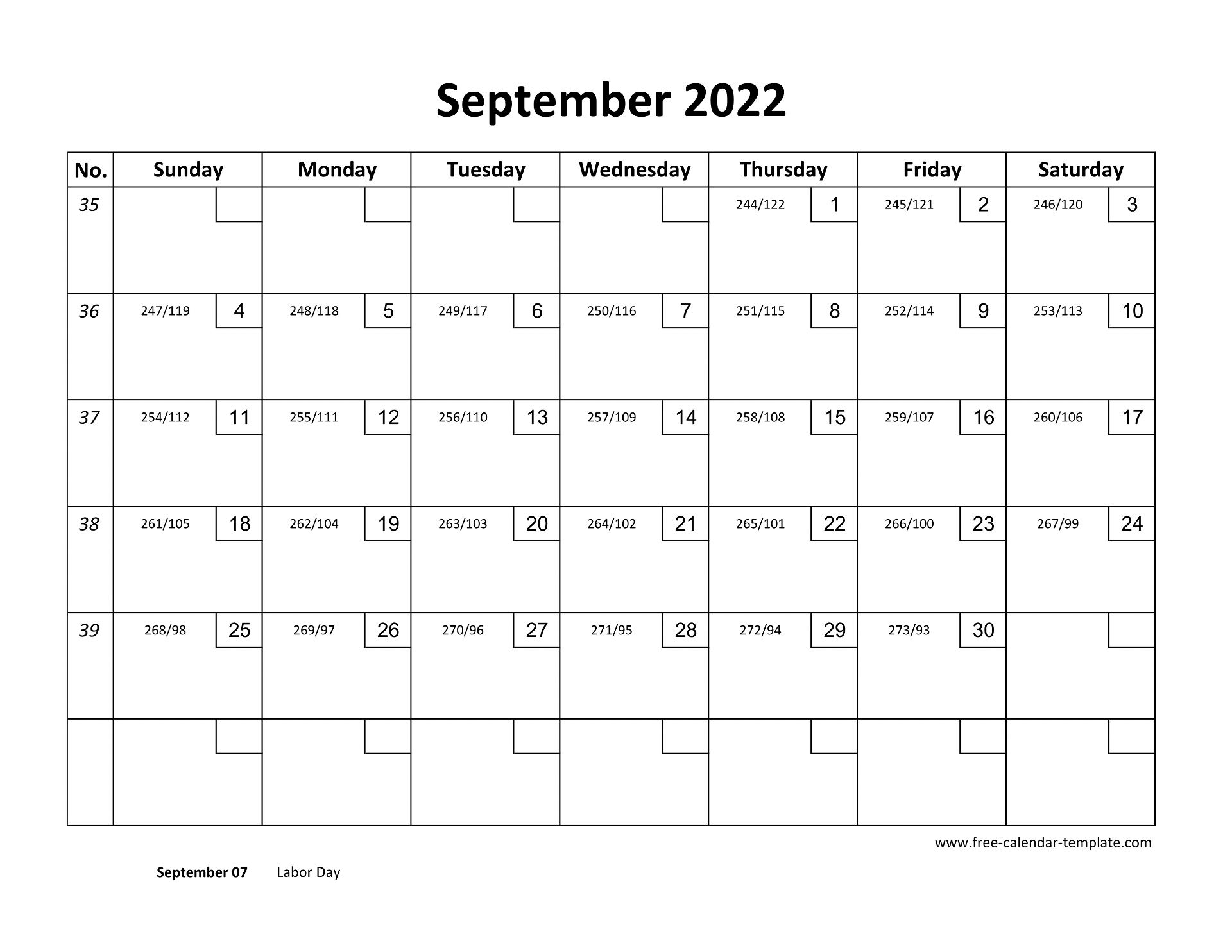 September Calendar 2022 Printable with checkboxes ...