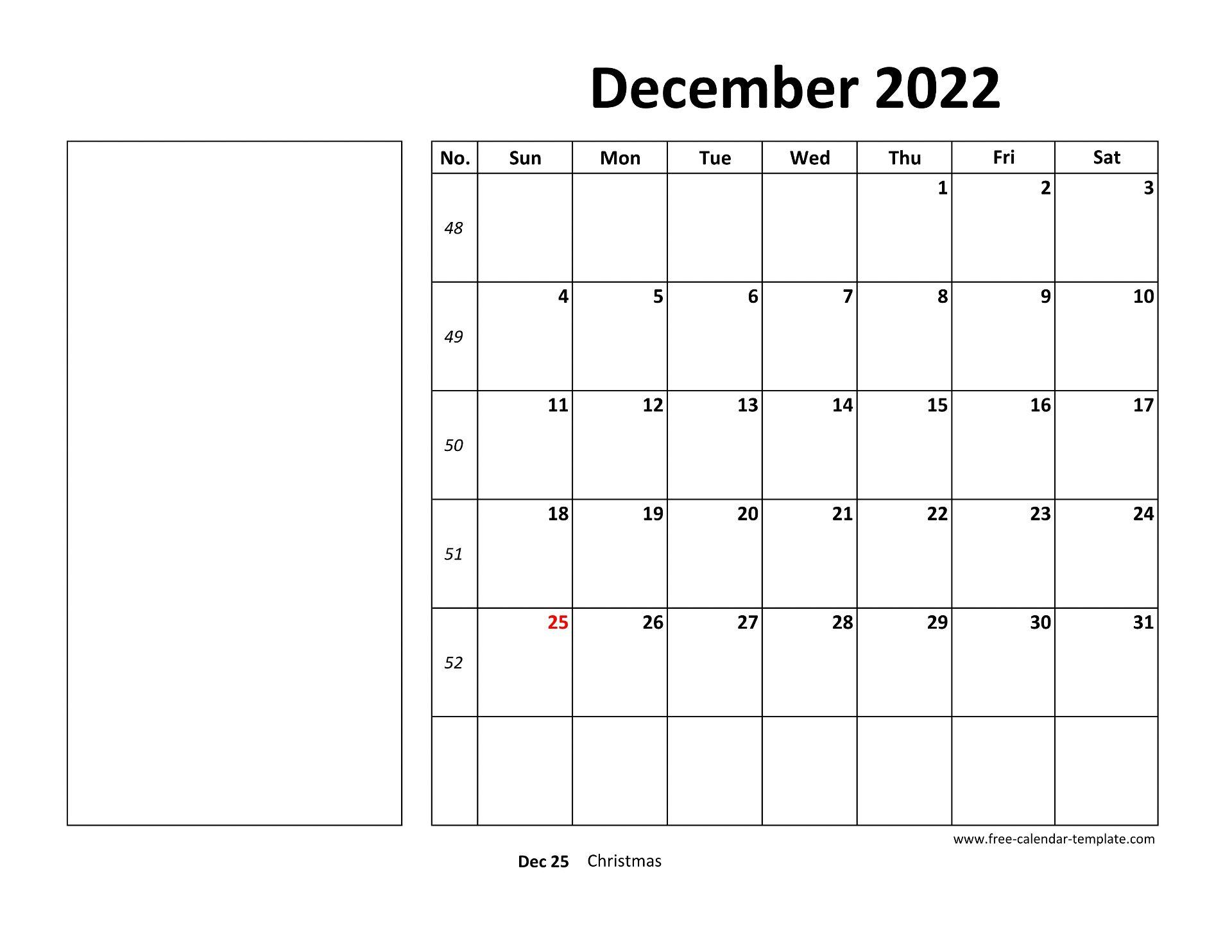December 2022 Free Calendar Tempplate | Free-calendar ...