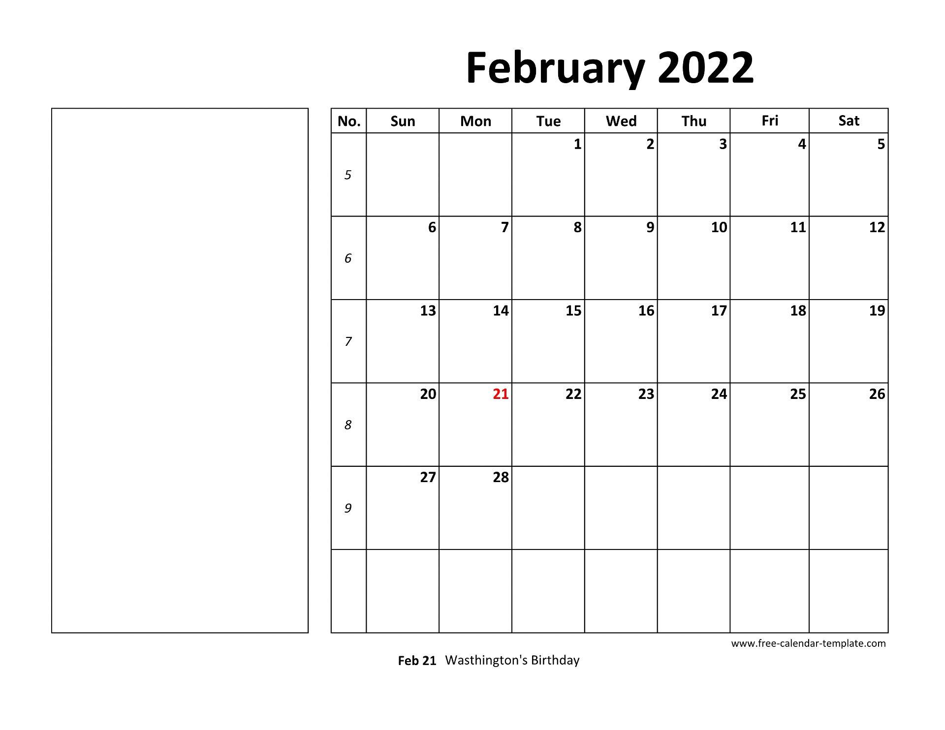February 2022 Free Calendar Tempplate | Free-calendar ...