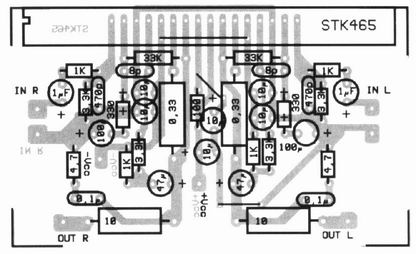 Amplifier 2x30W with STK465 :: circuit diagrams