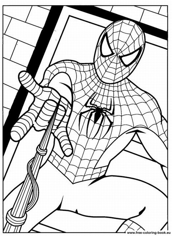 Coloring Pages Spiderman Page 2 Printable Coloring