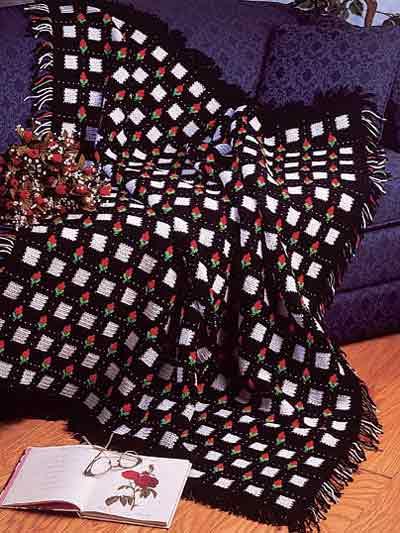 Crochet Afghans  Rosebud Afghan