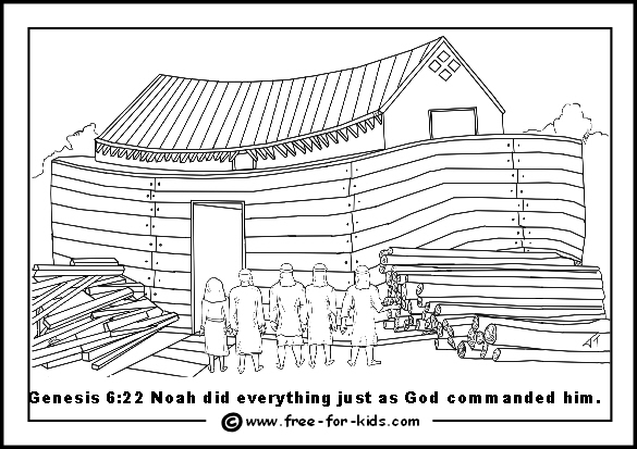 Noah S Ark Colouring Pages Www Free For Kids Com