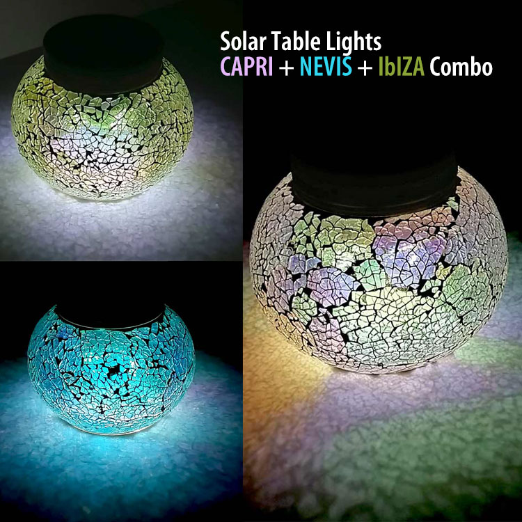 solar table light combo pack sparkling hand crafted solar table light for patio