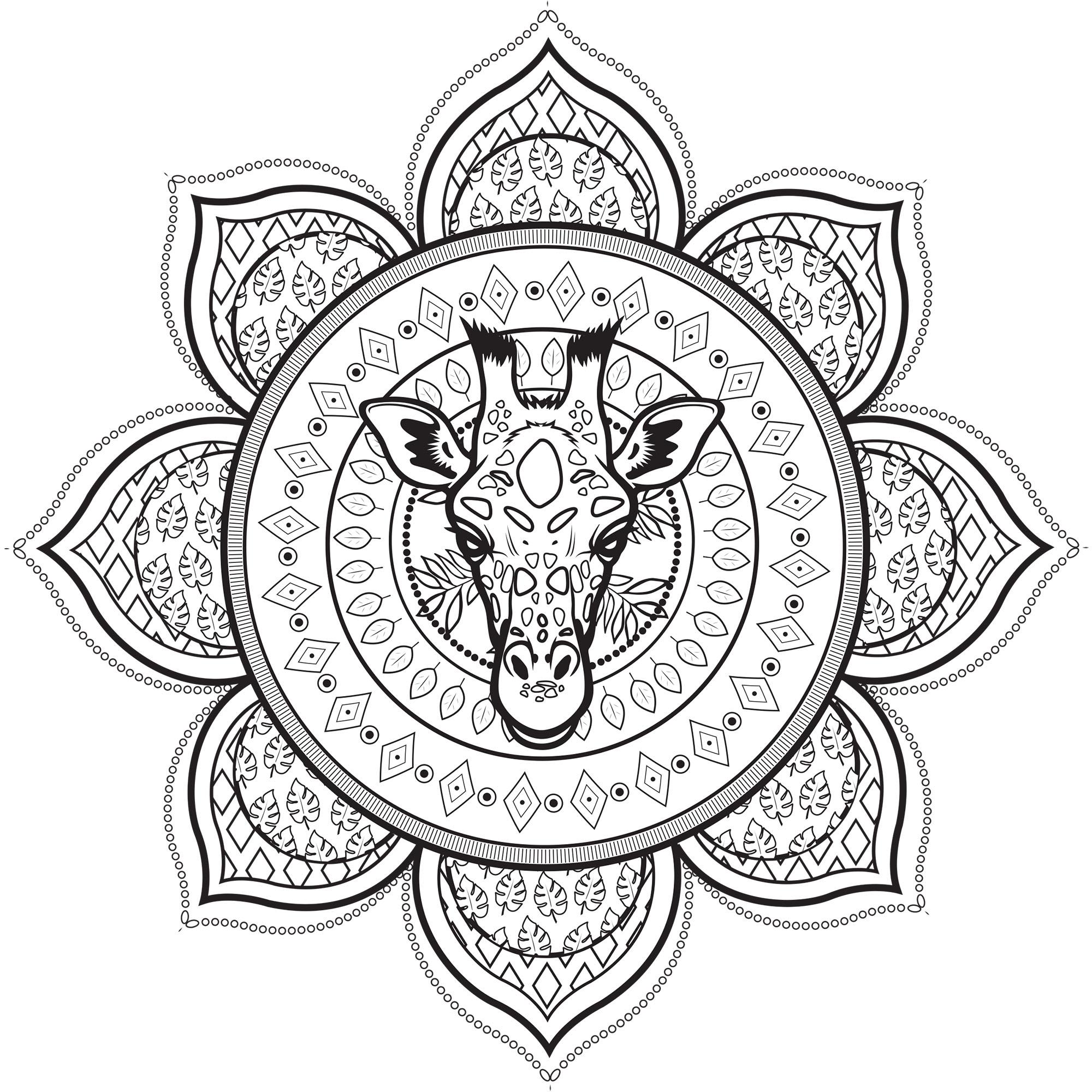 Malvorlagen Mandala In English - Zeichnen und Färben