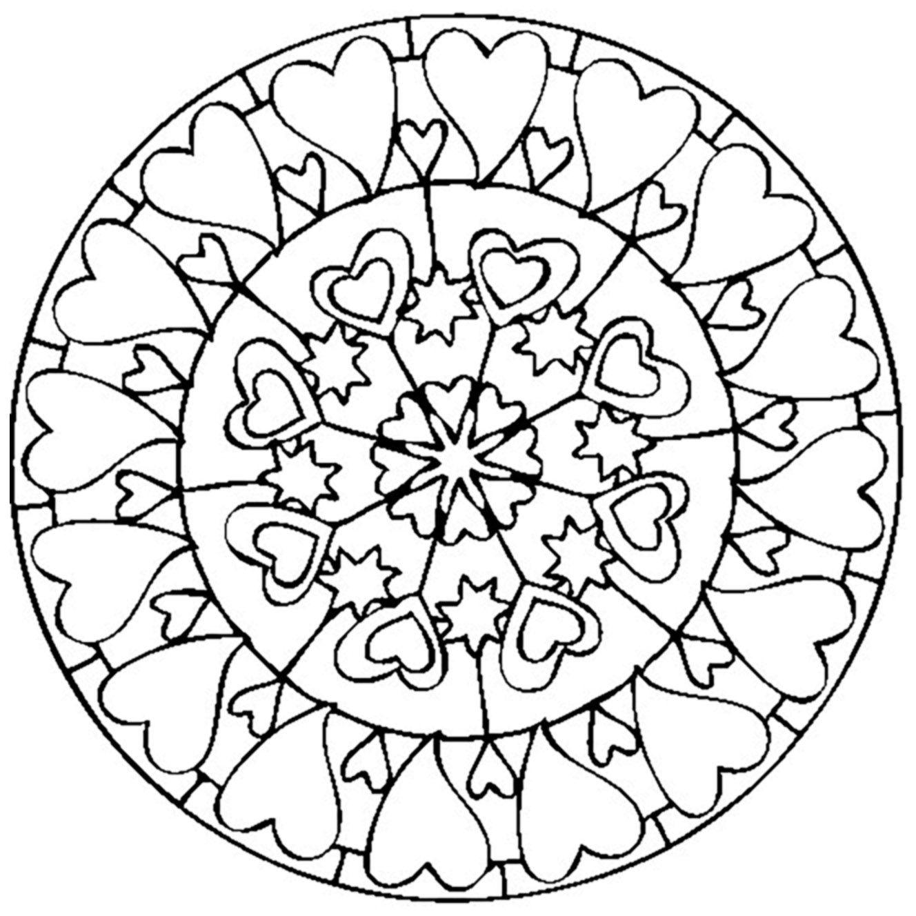 mandala coloring page with