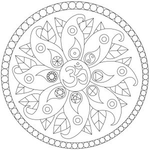 easy mandala coloring pages # 19