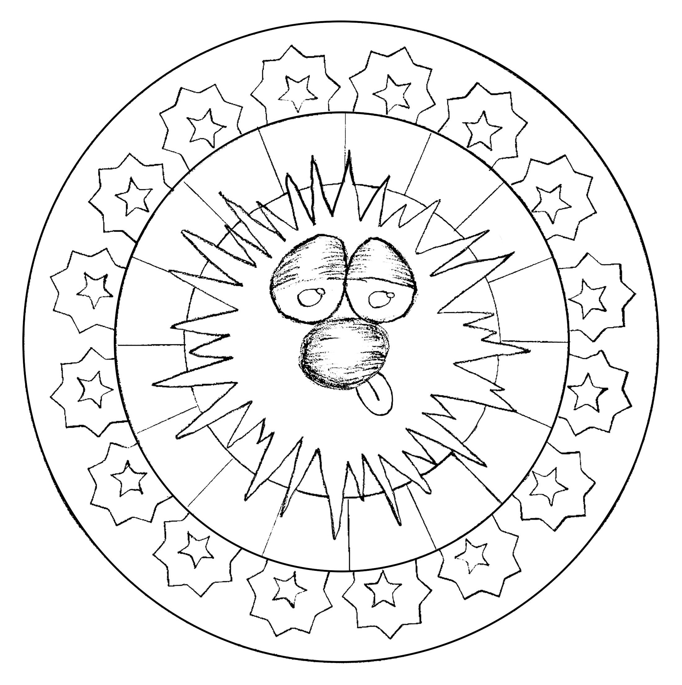 Mandala With Smiling Face