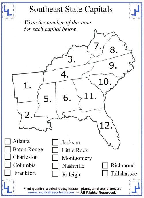 small resolution of 4th Grade Social Studies - Southeast Region States
