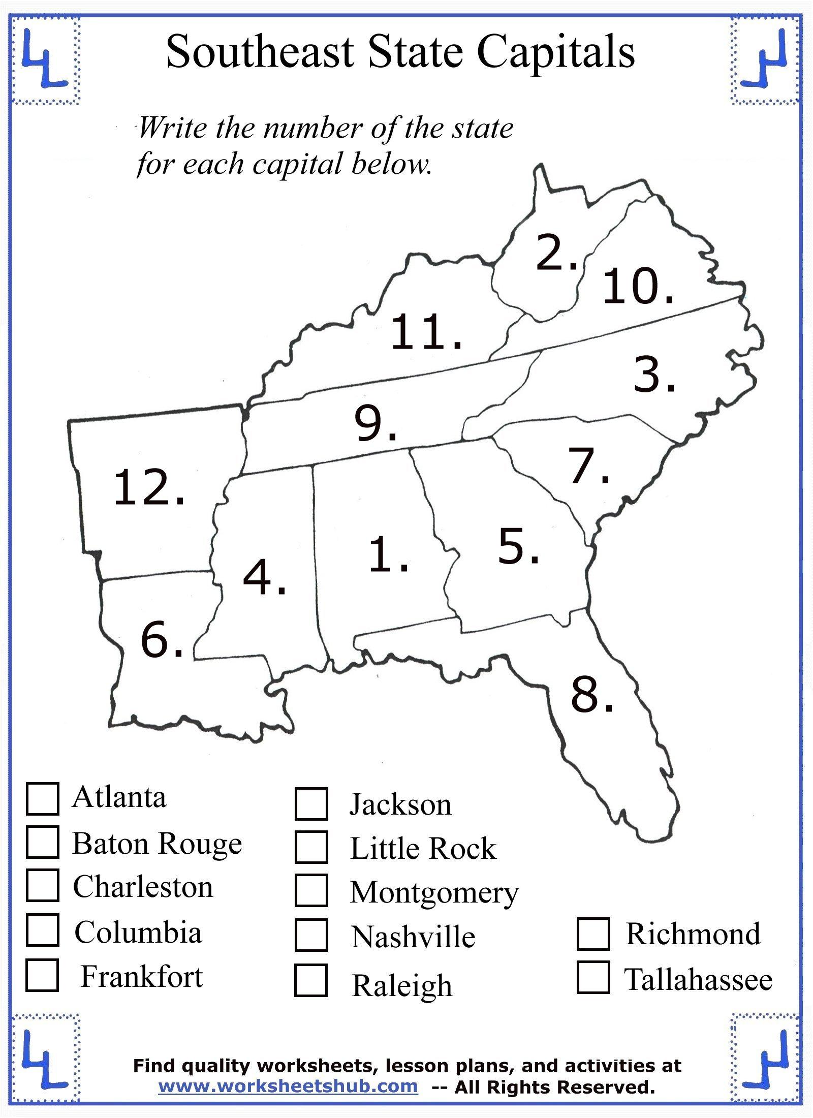 hight resolution of 4th Grade Social Studies - Southeast Region States