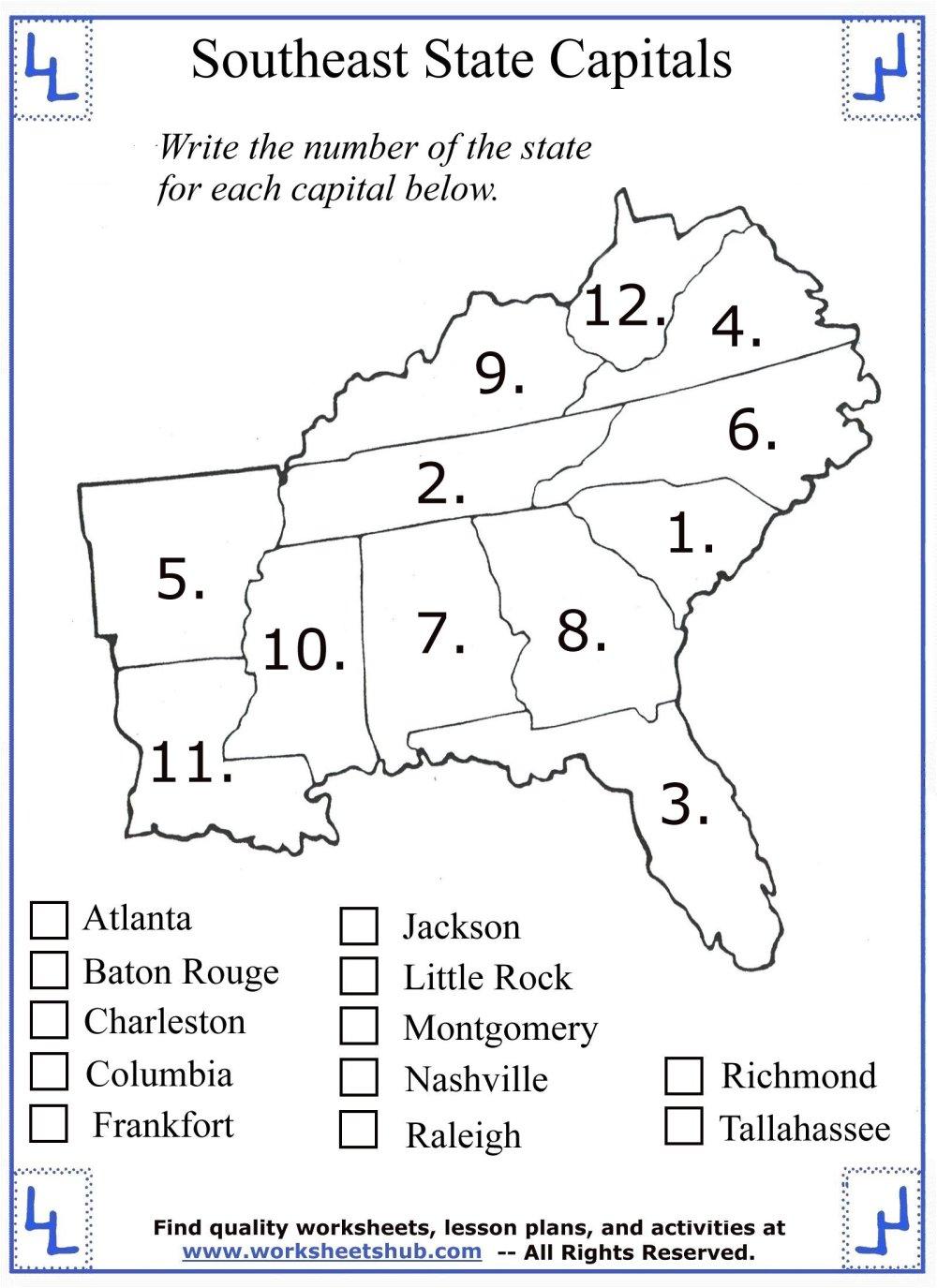 medium resolution of 4th Grade Social Studies - Southeast Region States