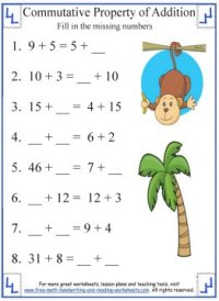 Commutative Property of Addition - Definition & Worksheets