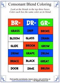Consonant Blend Gr Worksheet - consonant blend gr ...