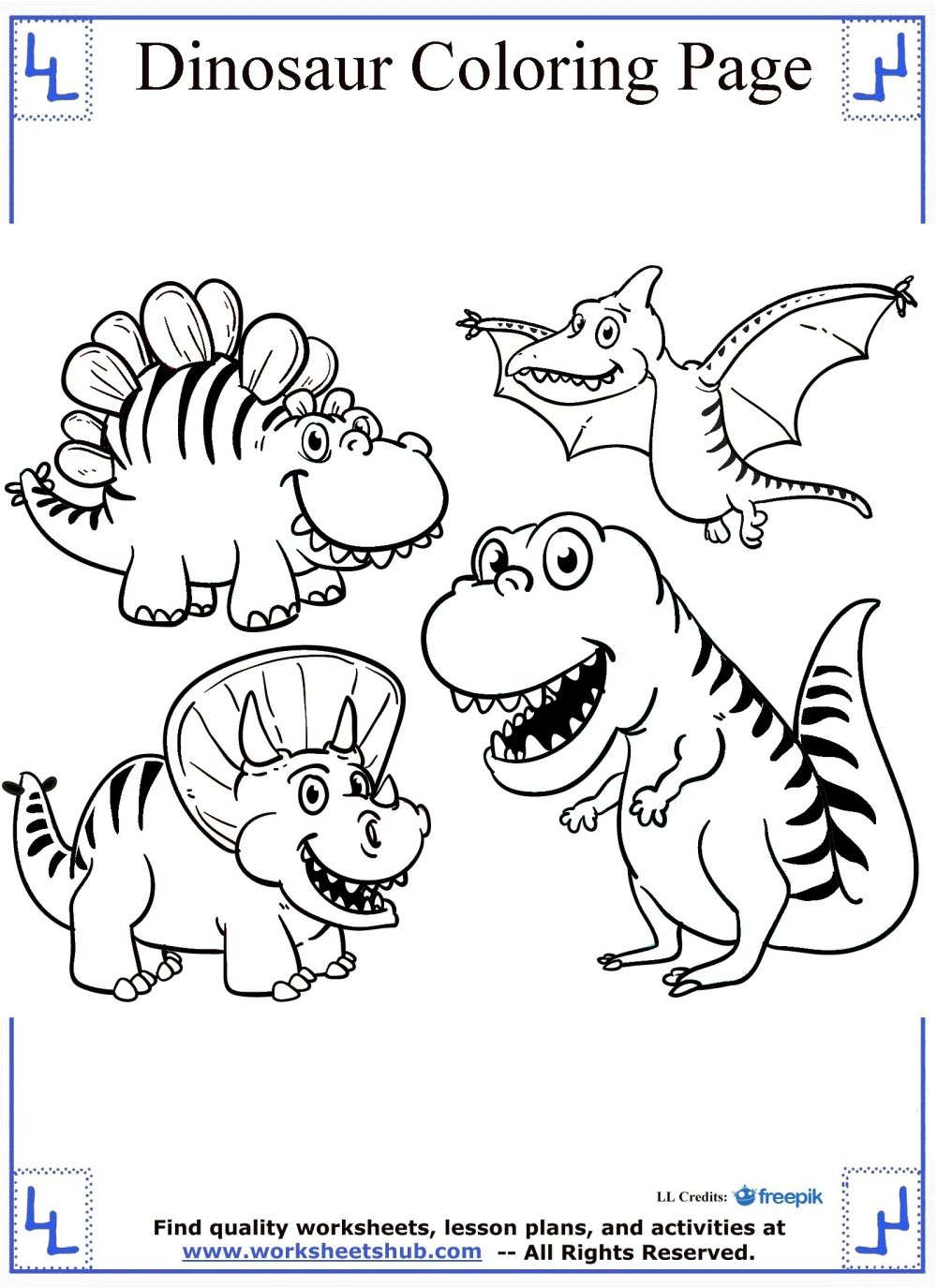 medium resolution of Dinosaur Coloring Pages