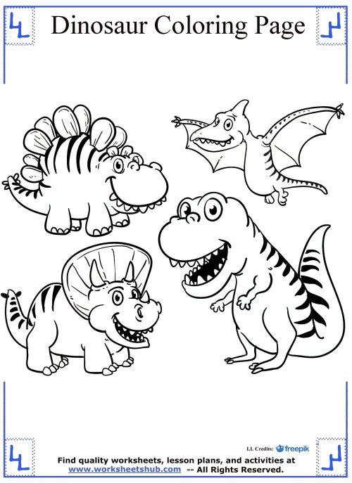 small resolution of Dinosaur Coloring Pages