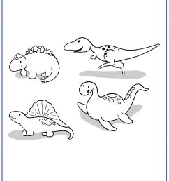 Dinosaur Coloring Pages [ 2200 x 1600 Pixel ]