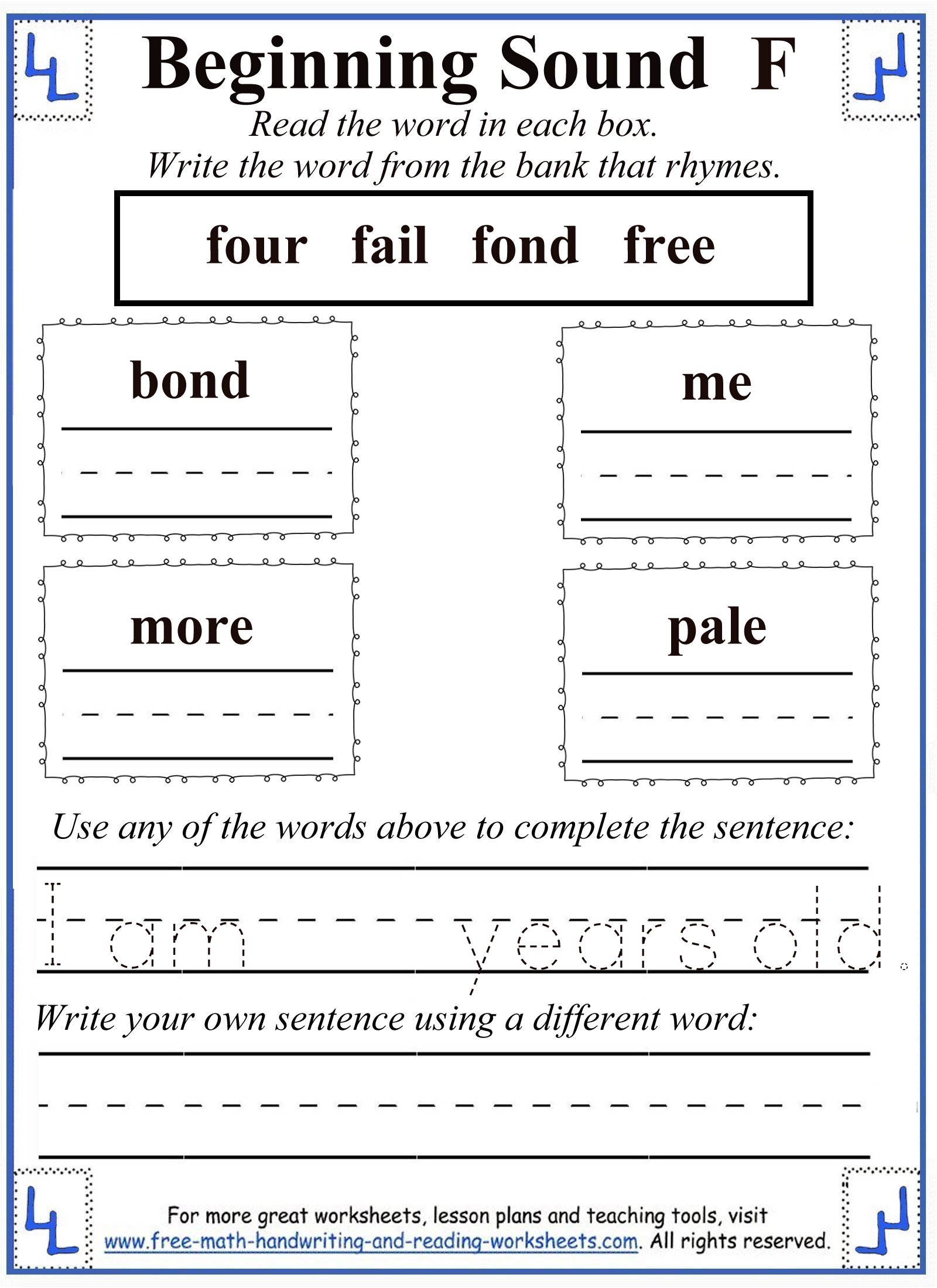 F Letter Activities Amp Worksheets