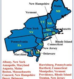 Fourth Grade Social Studies - Northeast Region States and Capitals [ 2200 x 1600 Pixel ]