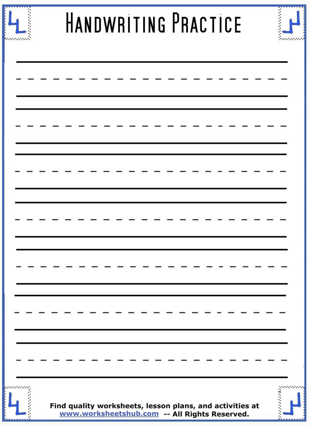 medium resolution of Handwriting Sheets:Printable 3-Lined Paper