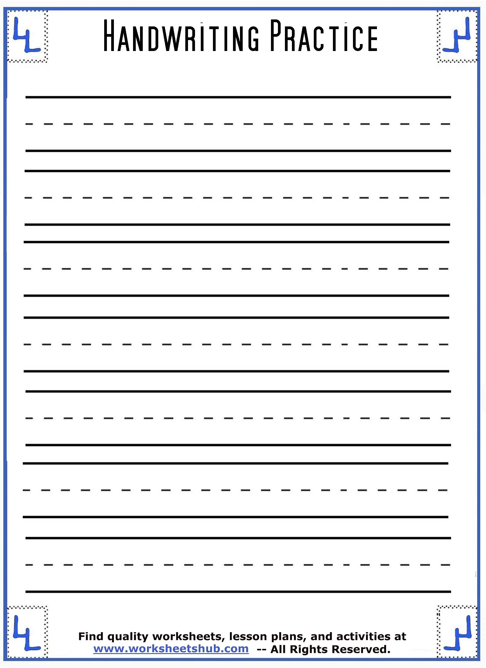 hight resolution of Handwriting Sheets:Printable 3-Lined Paper