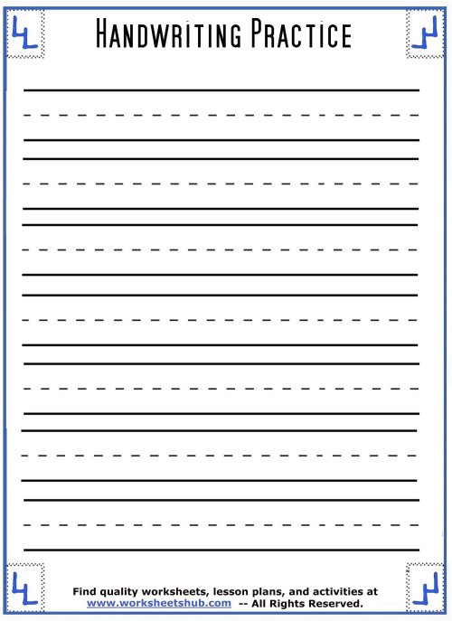 small resolution of Handwriting Sheets:Printable 3-Lined Paper