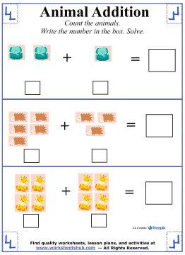 Kindergarten Addition Worksheets