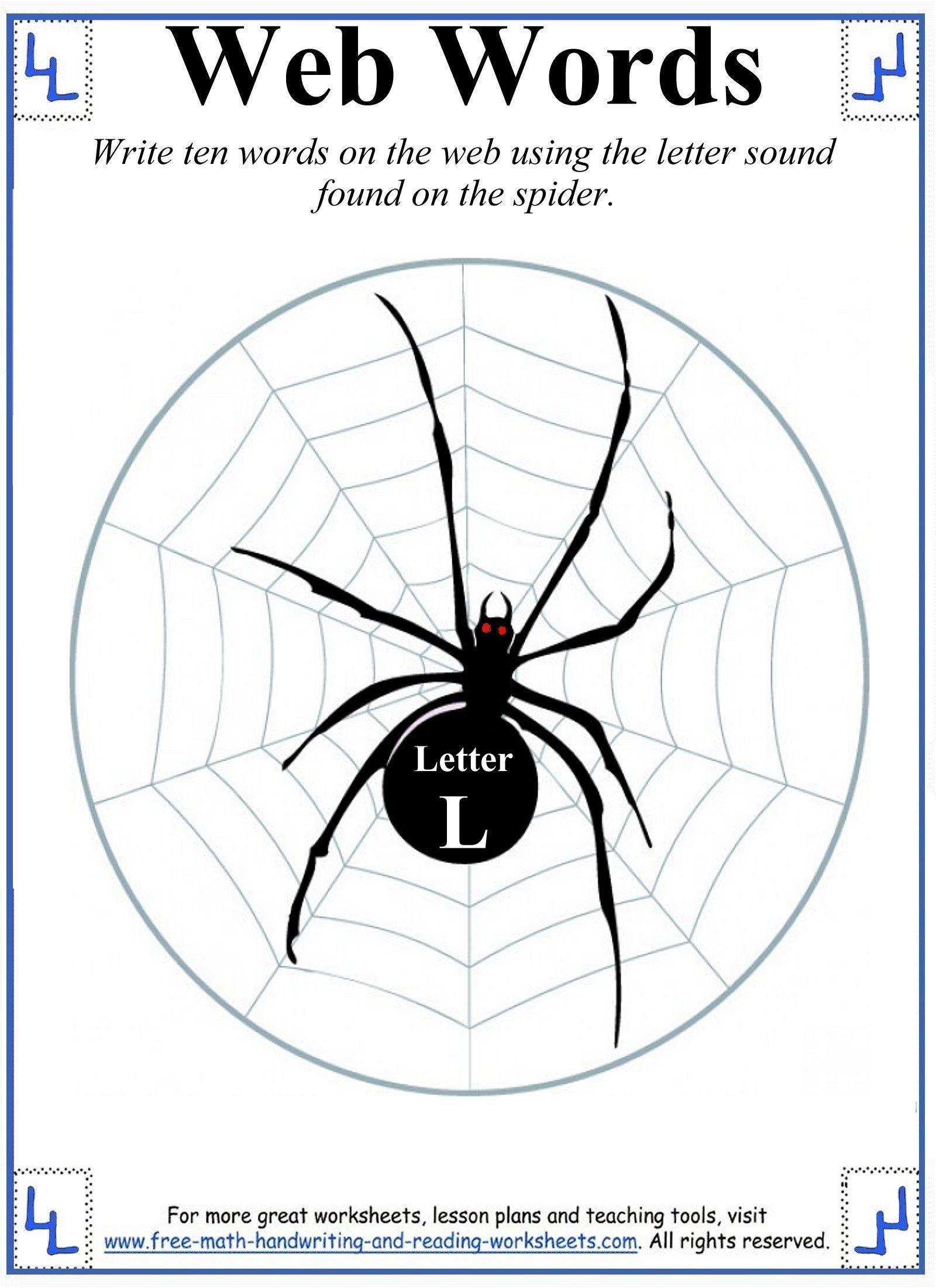 L Letter Worksheets
