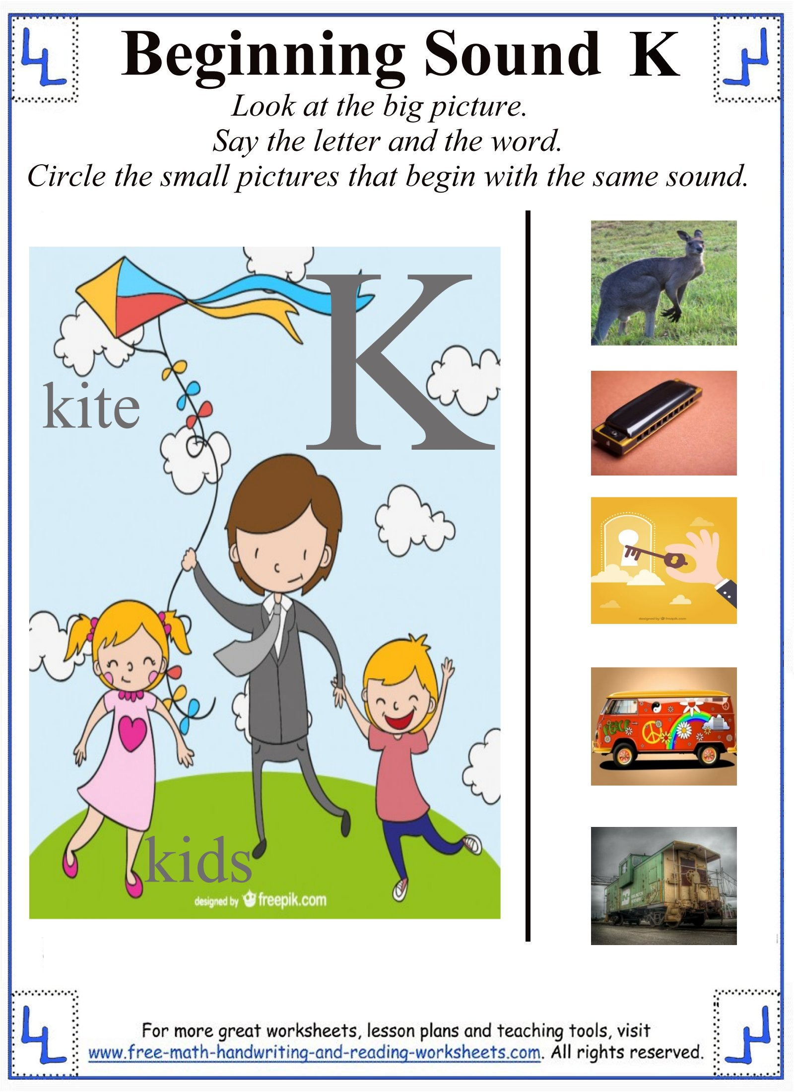 Letter K Worksheets For Preschoolers