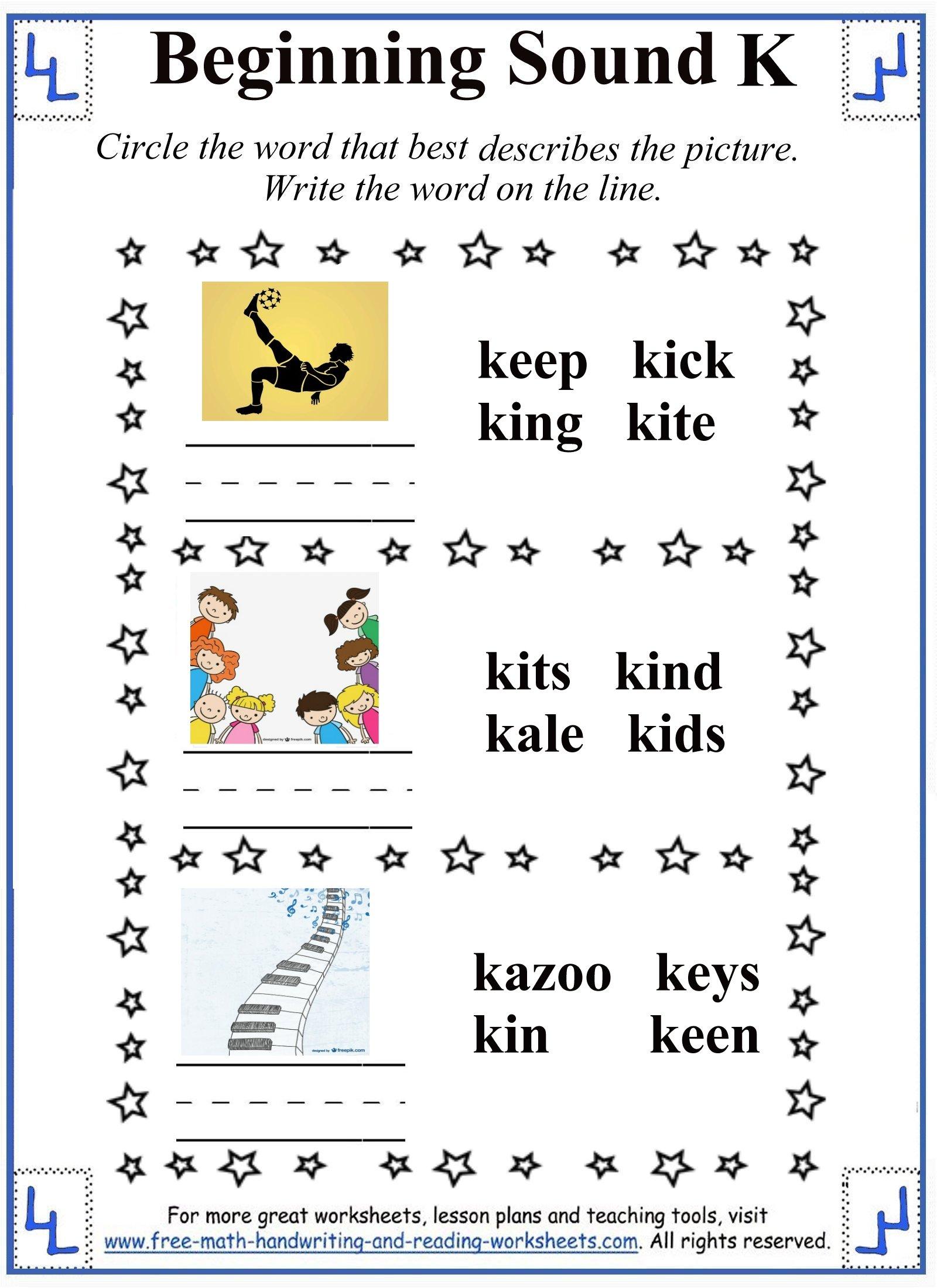 Rhyming Worksheet For Pre K Printables