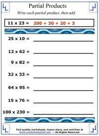 worksheet. Partial Product Multiplication Worksheets ...