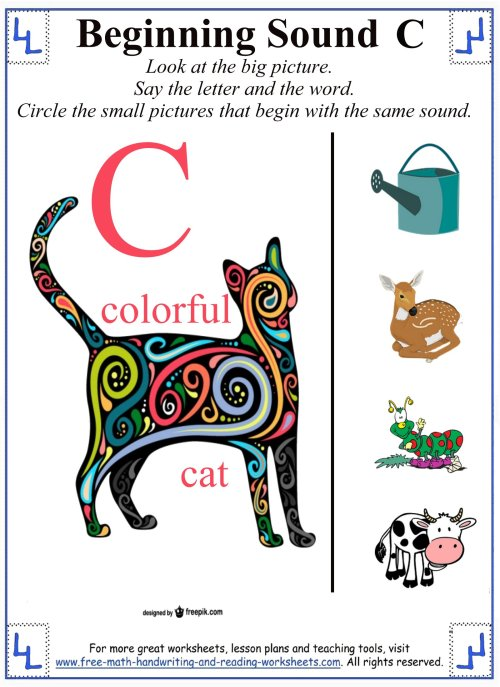 small resolution of Printable Letter C Worksheets \u0026 Activities