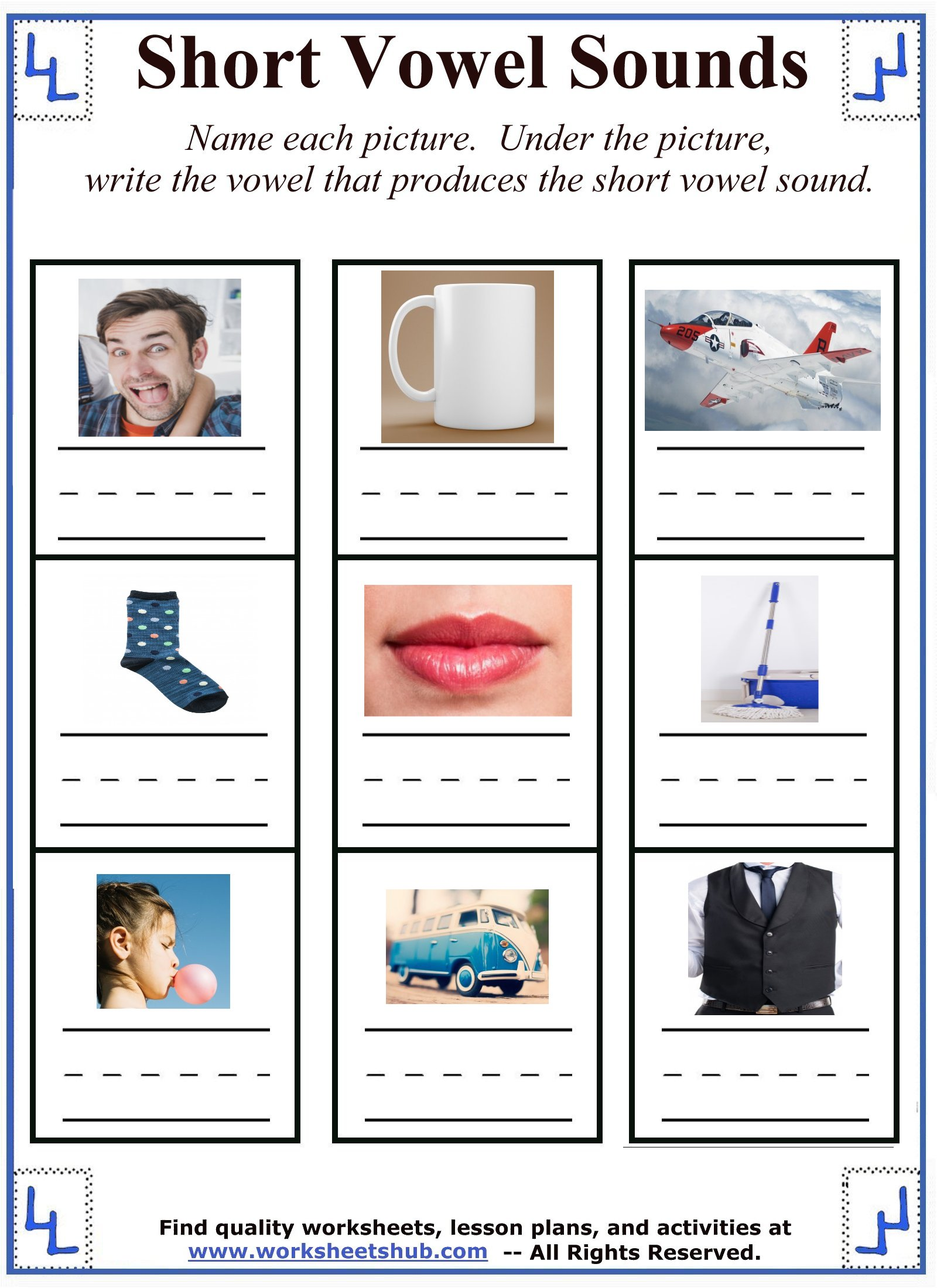 hight resolution of Short Vowel Sounds - Mixed Vowel Worksheets