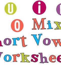 Short Vowel Sounds - Mixed Vowel Worksheets [ 824 x 1276 Pixel ]