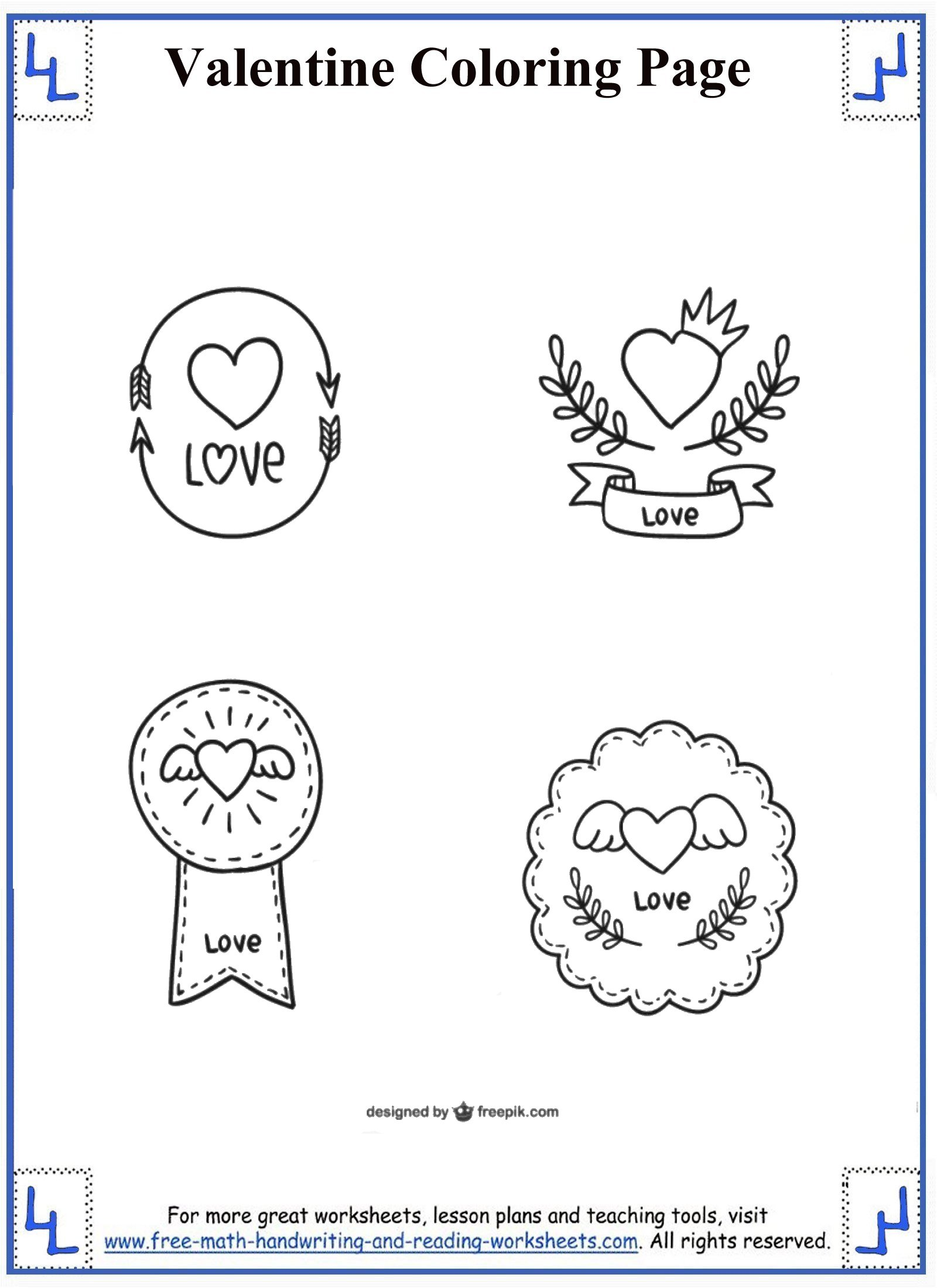 Valentine Coloring Pages