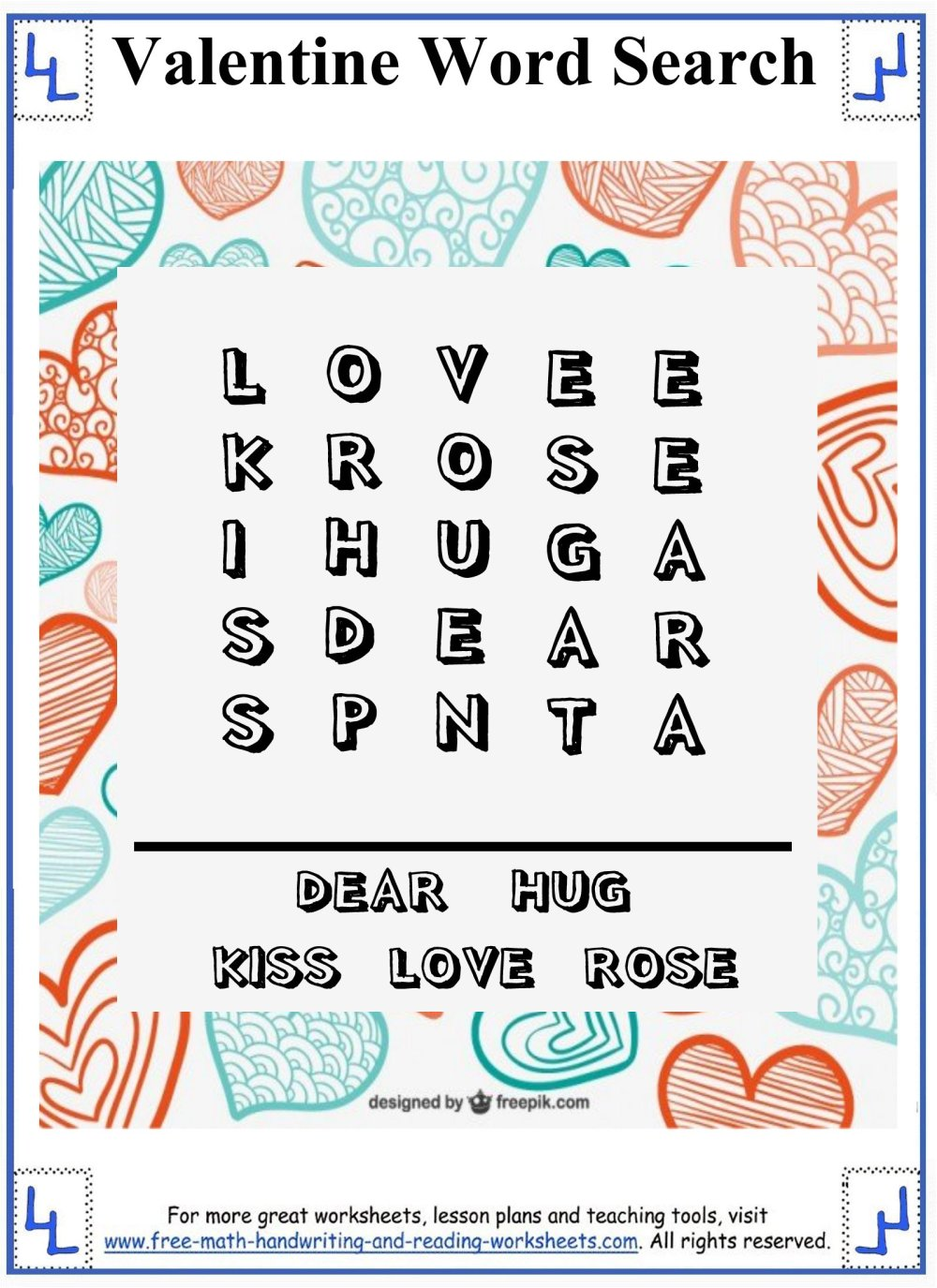 medium resolution of Valentine Word Search - Printable Puzzles