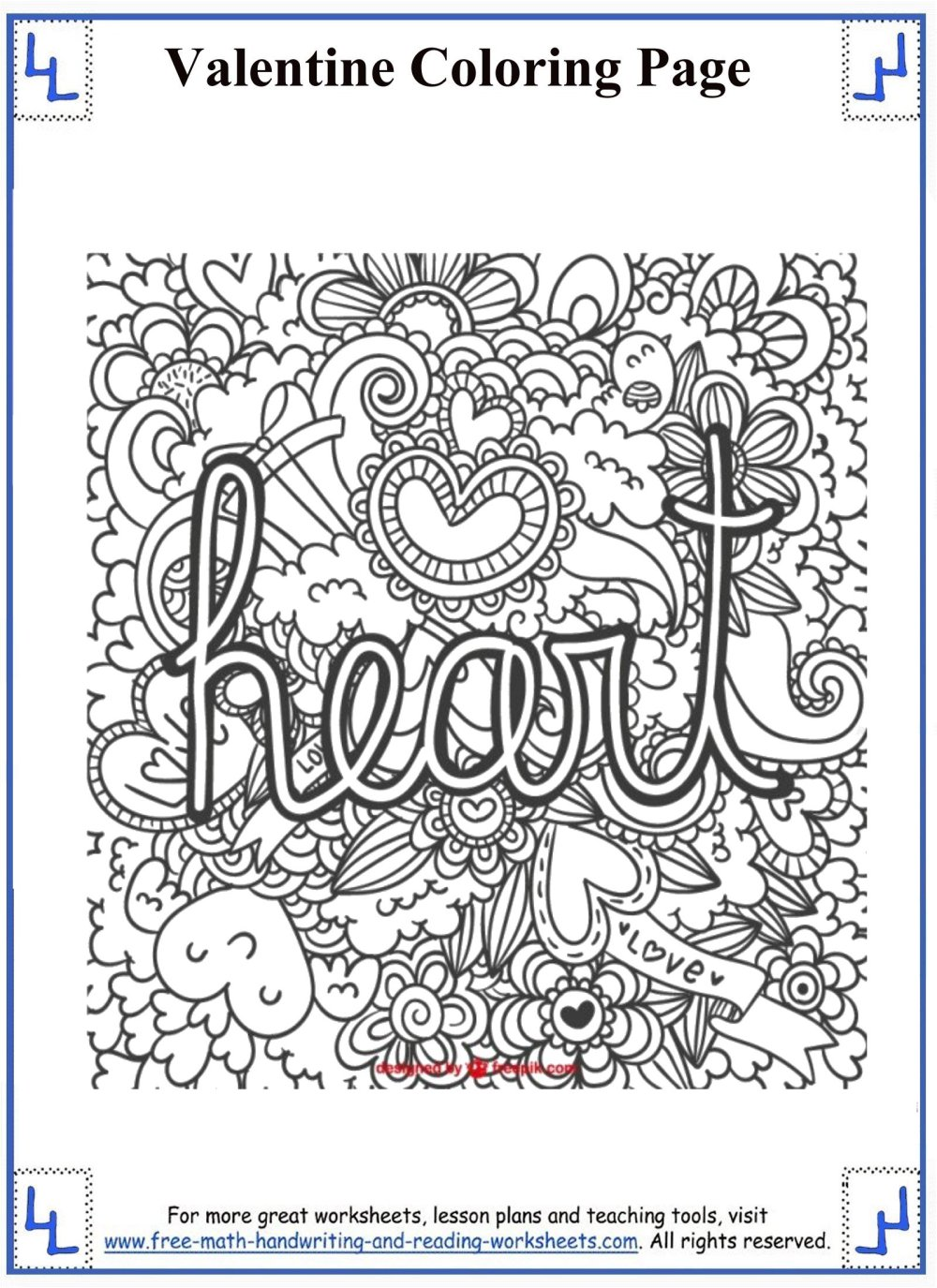 medium resolution of Valentines day coloring pages 5th grade