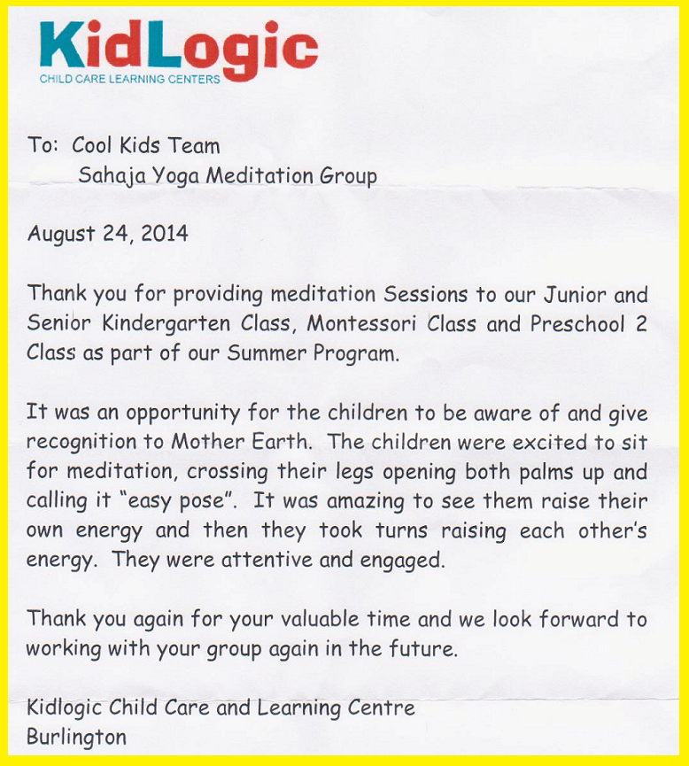 KIDLOGIC Child Care Learning Centre Is Teaming Up With
