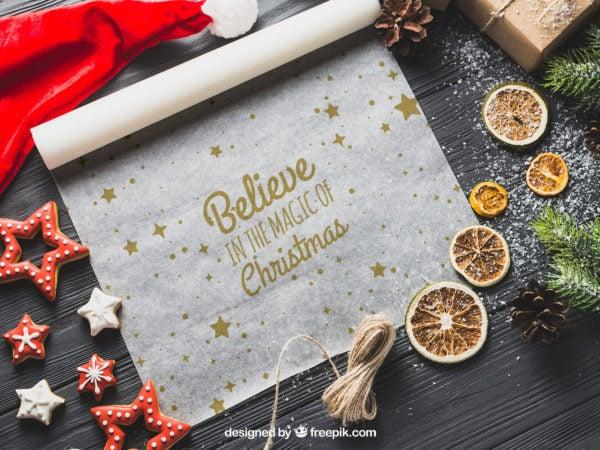 Wrapping paper mockup gift wrap christmas pattern paper holiday wrapping paper. Baking Paper Free Mockup Free Mockup