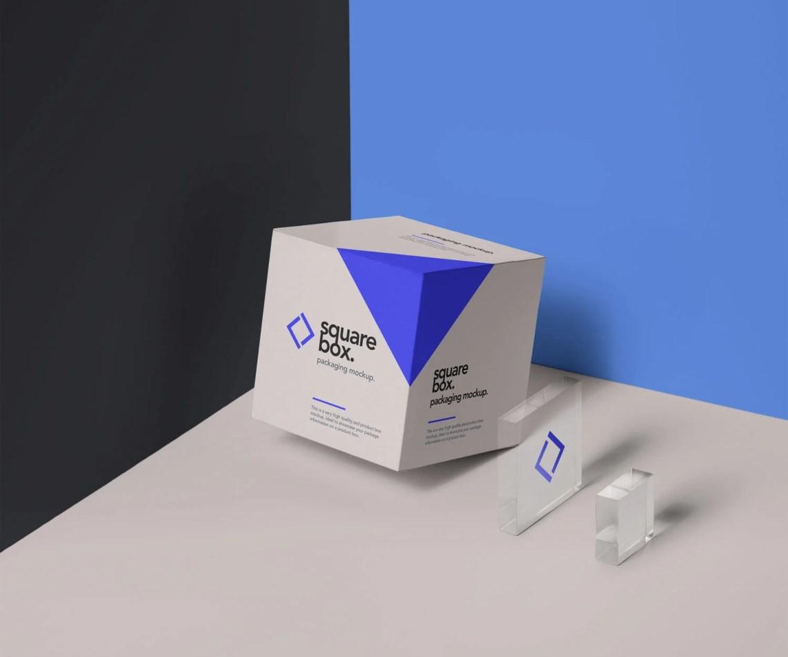Download Square Box Packaging PSD Mockup | Free Mockup