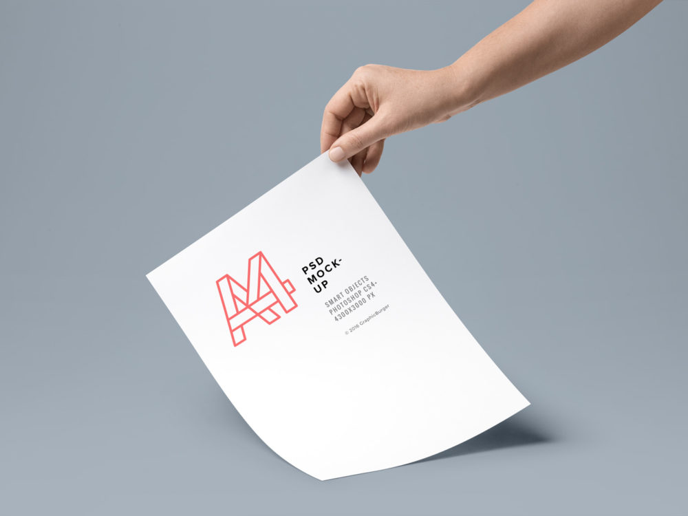 Download A4 Paper PSD | Free Mockup