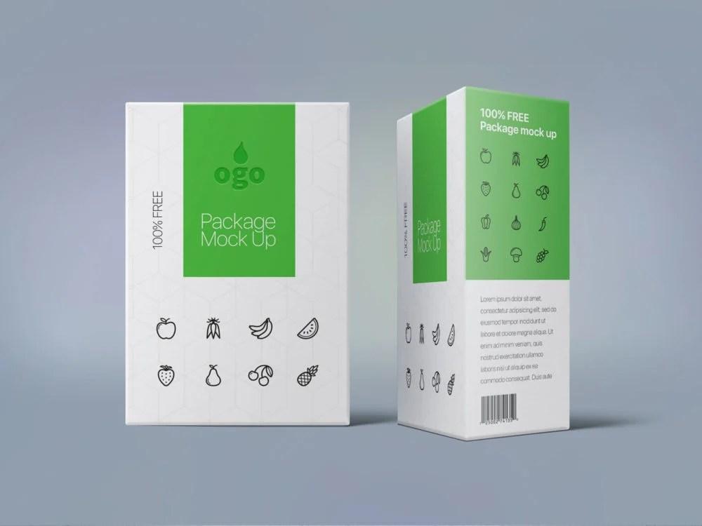 Download Box Package Design Mock Up | Free Mockup
