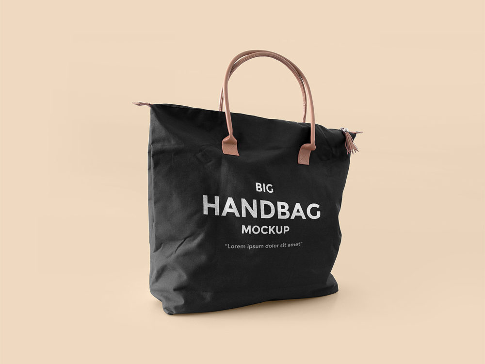 Use this bottle psd to showcase your branding designs. Big Handbag Mockup Free Free Mockup